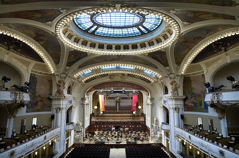 Salle de concert Smetana dans la maison de la municipalité  (Obecni Dum) à Prague. Photo de Jorge Royan.