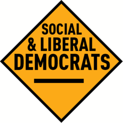 The initial logo used by the Social and Liberal Democrats after their 1988 foundation Social and Liberal Democrats logo.png