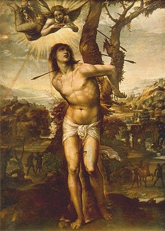 Saint Sebastian - Martyrdom of Saint Sebastian, by Il Sodoma, c. 1525