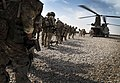 Soldiers of A Company,1 Rifles Board a Chinook Helicopter at the Start of Operation Omid Haft in Afghanistan MOD 45152762.jpg