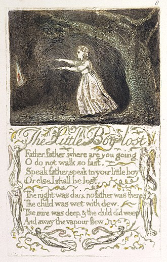 The Little Boy Lost - Image: Songs of Innocence and of Experience, copy A, 1795 (British Museum) object 10 The Little Boy Lost