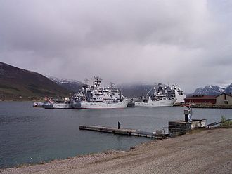 Norwegian Coast Guard - Coast Guard vessels at Sortland Naval Base