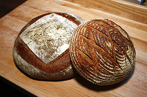 Sourdough - Image: Sourdough miche & boule
