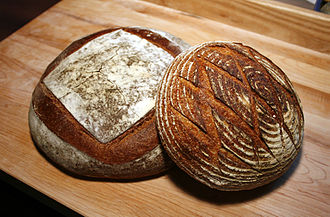 Sourdough - Two round loaves of sourdough bread