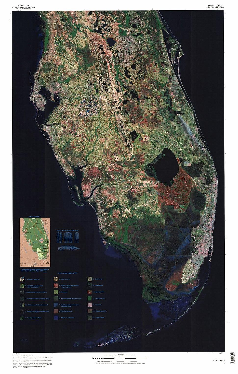 South Florida Satellite Image Map