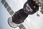 Soyuz MS-09 docked to the Rassvet module of the ISS.jpg
