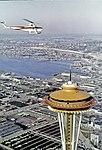 Space Needle during World's Fair, 1962 (35199816835).jpg