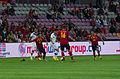 Spain - Chile - 10-09-2013 - Geneva - Arturo Vidal, Sergio Ramos, Eduardo Vargas, Javi Garcia and Santiago Cazoria.jpg