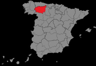 León (Congress of Deputies constituency) - Location of León within Spain