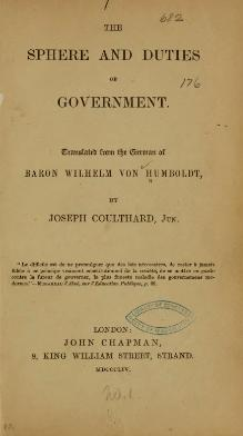 Sphere and Duties of Government.djvu