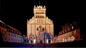 St. Matthias' Abbey - Frontage at night