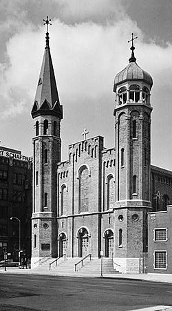 St. Patrick's Church, Adams & Desplaines Streets, Chicago (Cook County, Illinois).jpg