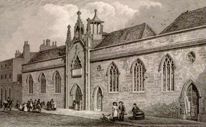 Exeter School - St John's Hospital site of the school from 1633 to 1878