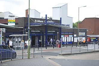 St Albans City railway station - Exterior of the main building on Station Way