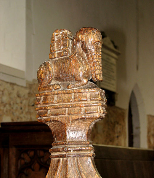 File:St Andrew's church - C15 bench end - geograph.org.uk - 1576468.jpg