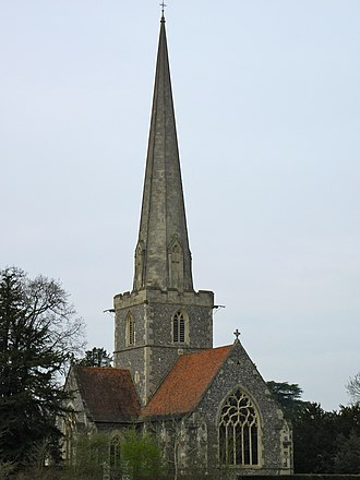 St. Mary's Episcopal Church, Burlington, New Jersey - Image: St John the Baptist Shottesbrooke 2