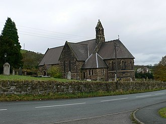 Brymbo - St Mary's, built in 1872 on the outskirts of the village after its predecessor was demolished due to subsidence