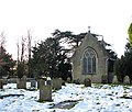 St Mary's church in the snow - geograph.org.uk - 1634135.jpg