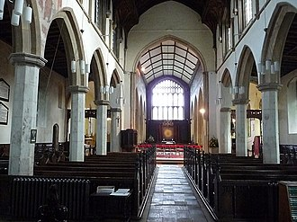 Church of St Michael the Archangel, Framlingham - The interior of the church