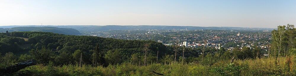 Panorama-Aufnahme von Hagen vom Hagener Stadtwald aus