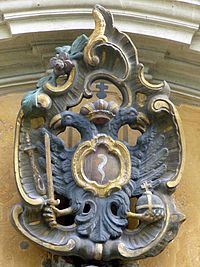 Coat of arms of 1766 with eagle and eel