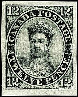 Stamp Canada 1851 12d black empress