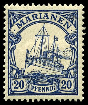 Mariana Islands - A 1901 stamp from the German-era Marianas