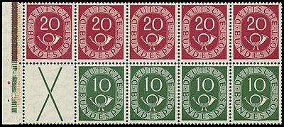 Stamps of Germany (BRD) 1951 Heftchenblatt 1.jpg