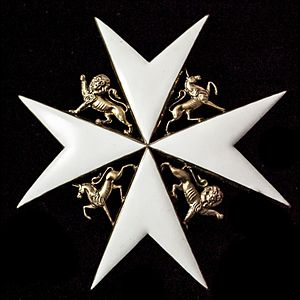 Order of Saint John (chartered 1888) - Image: Star Venerable Order of St John
