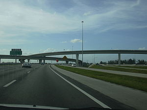 Interstate 595 (Florida) - I-595 westbound at US 441 interchange