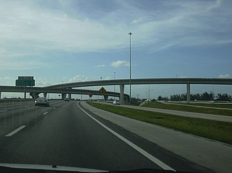 Interstate 595 (Florida) - I-595 westbound at US 441 interchange