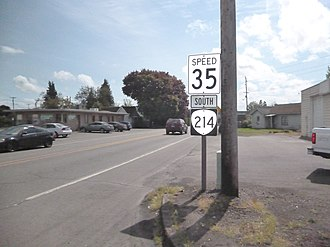 Oregon Route 214 - Start of Oregon Route 214