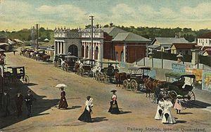 Ipswich railway station, Queensland - Ipswich Railway Station, circa 1906