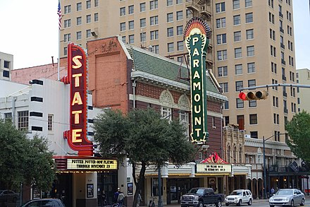 The State Theater and Paramount Theatre on Congress Avenue in Downtown Austin State and Paramount Theaters - Austin, Texas - DSC08305.jpg