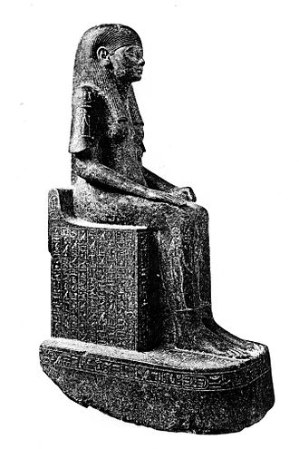 Nimlot C - Sitting statue of Shepensopdet A. Cairo Museum CG42228