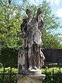 Statue of Saint Florian at the Saint Rosalia chapel in Esztergom.jpg