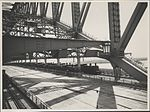 Steam trains on Harbour Bridge, 1932 (8283756978).jpg