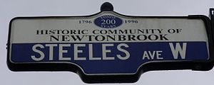 Steeles Avenue - Image: Steeles Ave West Street Sign
