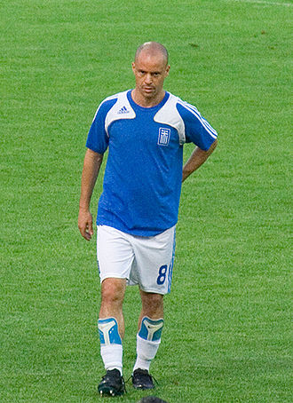 Stelios Giannakopoulos - Stelios playing for Greece in 2008