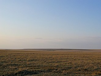Sarmatians - Great steppe of Kazakhstan in early spring.
