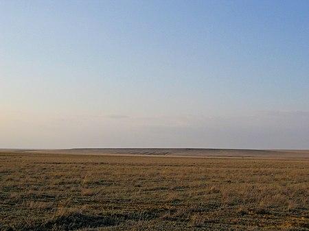 steppe in kazachstan