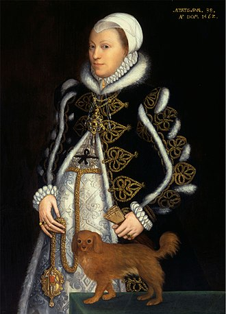Catherine Carey - Portrait thought to be Lady Knollys, by Steven van der Meulen, 1562