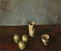 Still Life (Teacup, Bowl and Three Apples) by Kishida Ryusei (Osaka City Museum of Modern Art).jpg