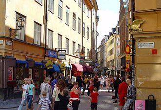 Västerlånggatan - Västerlånggatan a busy summer day.