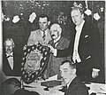 Stockport County receiving the Championship Shield in 1937.jpg