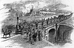 Robert Stephenson - The opening of the Stockton and Darlington Railway in 1825