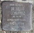 Stolperstein Jagowstr 38 (Moabi) Julius Lewkowitz.jpg