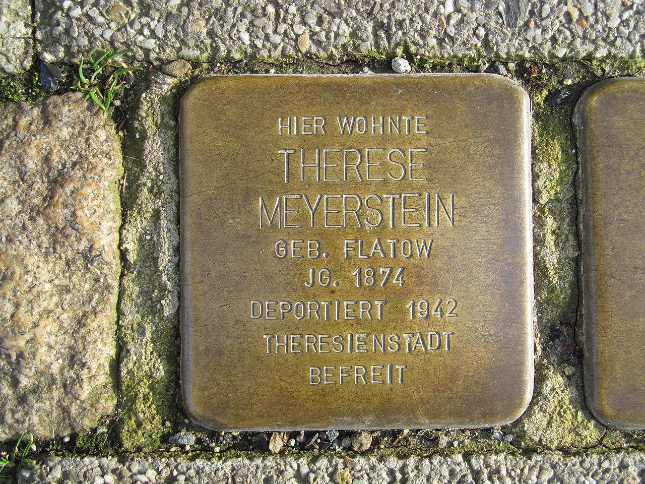 Stolperstein Therese Meyerstein, 1, Kylische Straße 9, Sangerhausen, Landkreis Mansfeld-Südharz.jpg