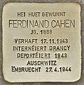 Stolperstein für Ferdinand Cahen (Esch-sur-Alzette).jpg