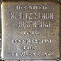 Stumbling block for Moritz Simon Rosenthal (Im Dau 12)